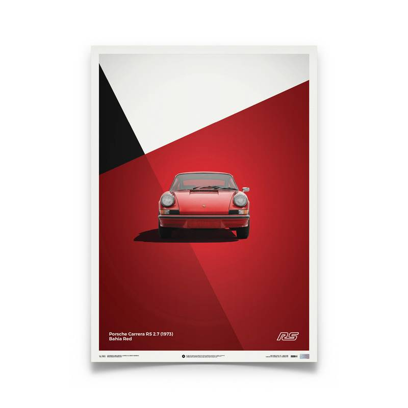 Product image for Porsche 911 RS – Red - 1973   Automobilist   Limited Edition poster