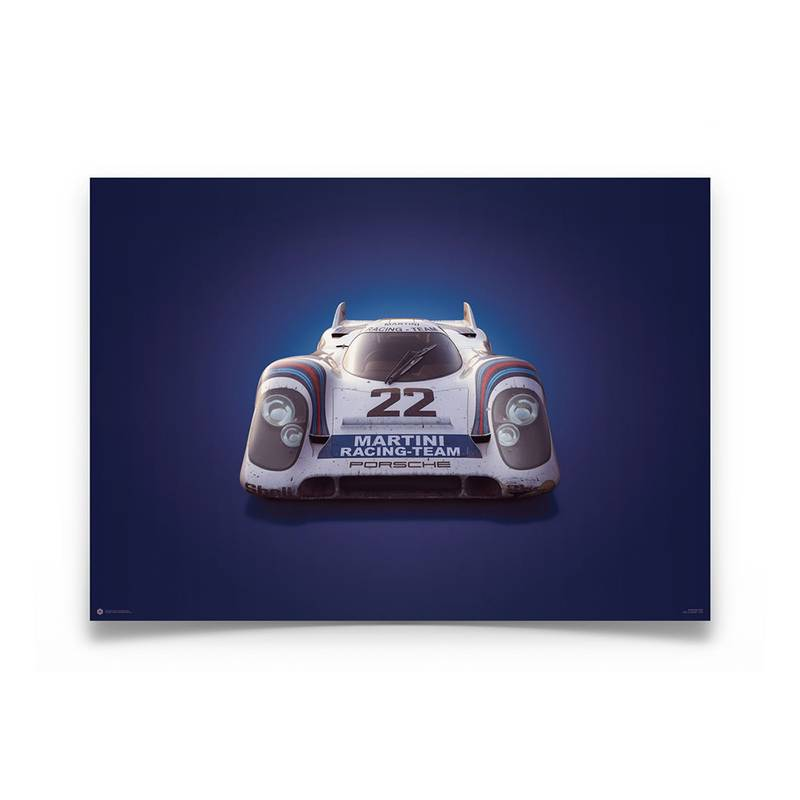 Product image for Colours of Speed   Martini Porsche 917K -  Le Mans - 1971   Automobilist   Limited Edition poster