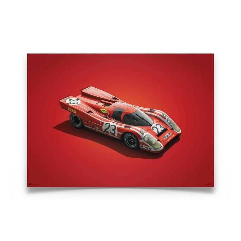 Product image for Colours of Speed   Salzburg Porsche 917K -  Le Mans - 1970   Automobilist   Limited Edition poster