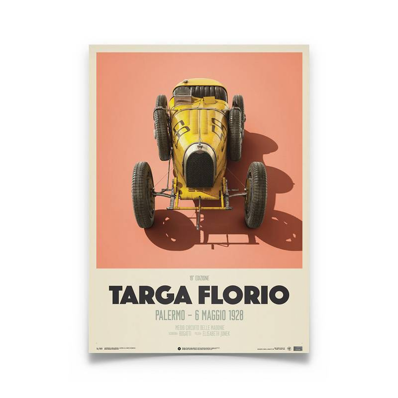 Product image for Bugatti T35 – Targa Florio – 1928   Automobilist   Limited Edition poster