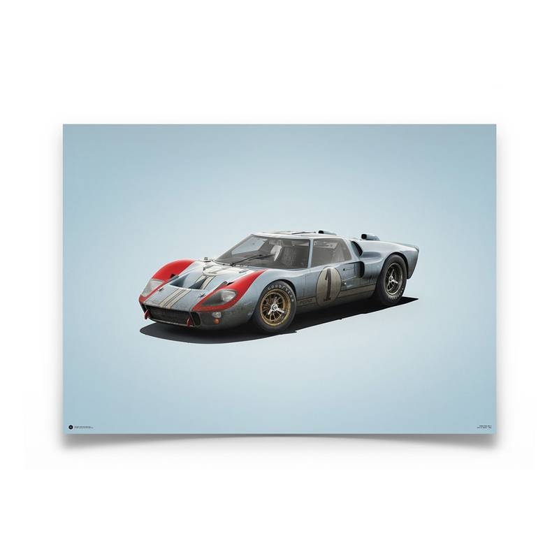 Product image for Ken Miles - Ford GT40 – 1966 Le Mans   Automobilist   Limited Edition poster