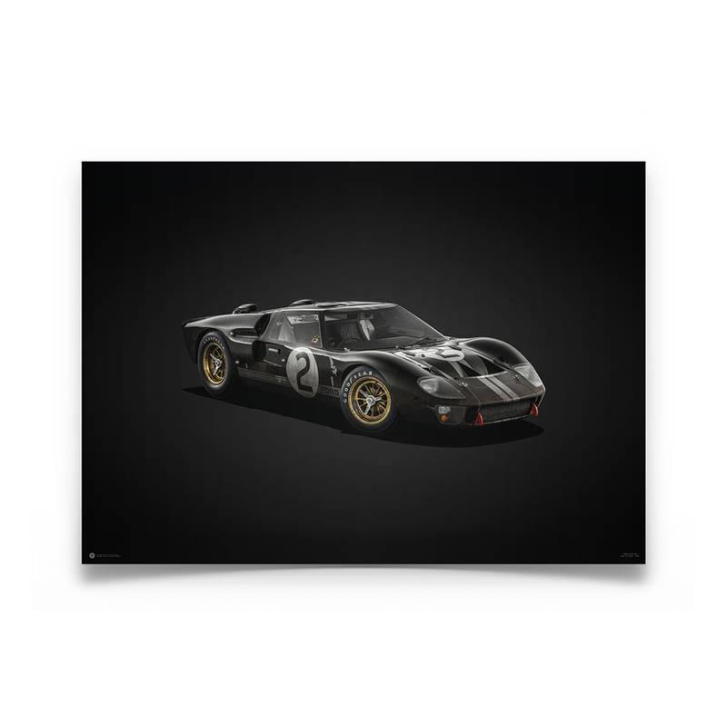 Product image for Colours of Speed   Bruce McLaren – Ford GT40 – Le Mans 1966   Automobilist   Limited Edition poster