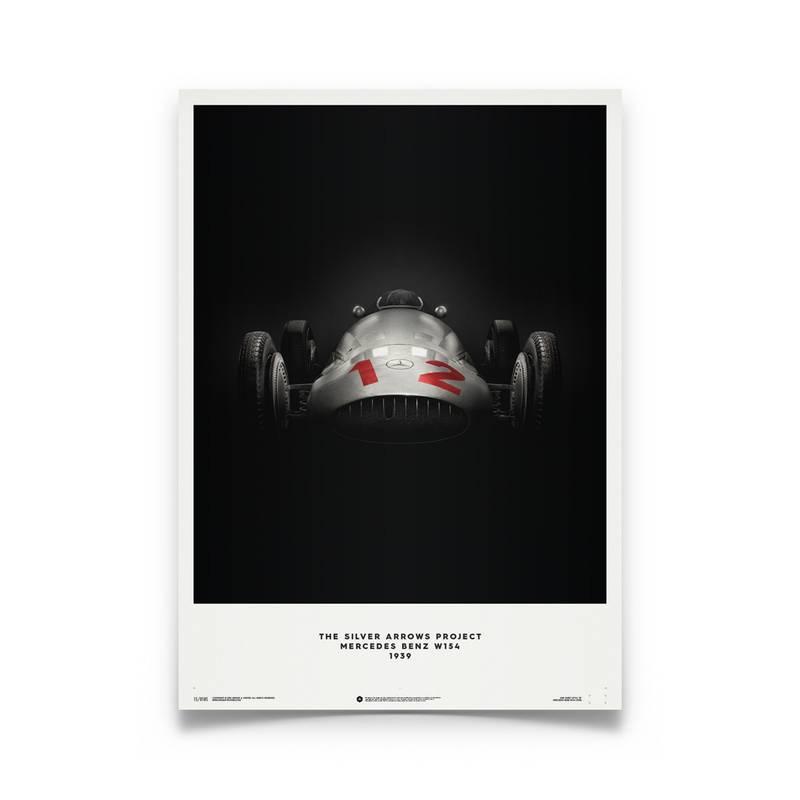 Product image for Rudolf Caracciola – Mercedes Benz W154 – Le Mans 1938   Automobilist   Limited Edition poster