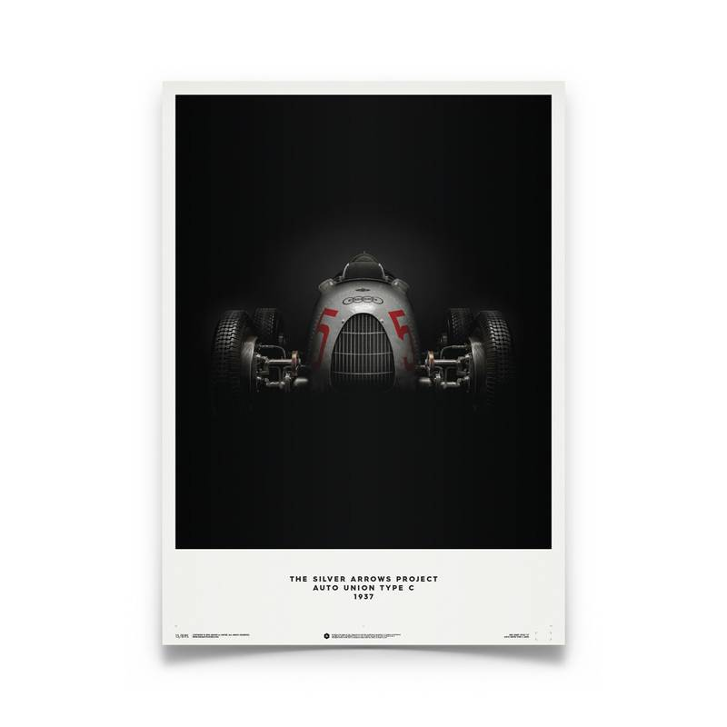 Product image for Bernd Rosemeyer – Auto Union Type C – 1937   Automobilist   Limited Edition poster