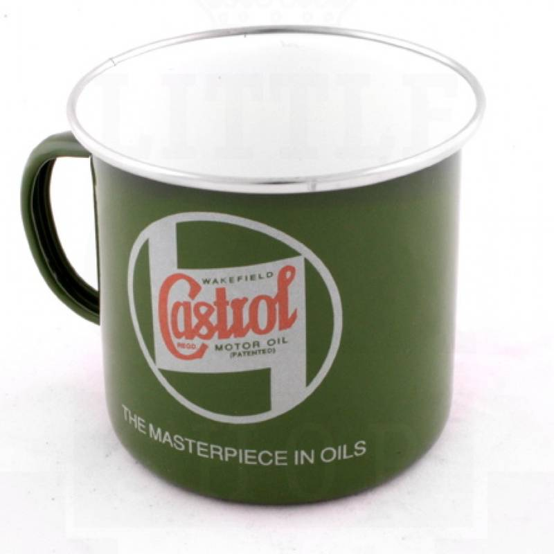 Product image for Castrol Motor Oil | Enamel Mug