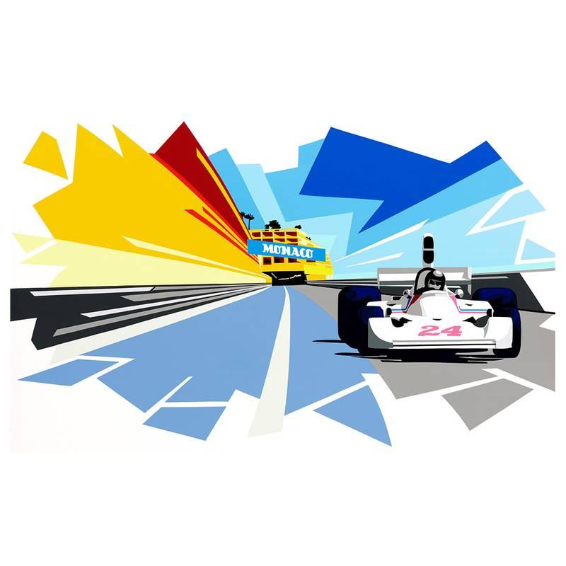 Product image for F1   James Hunt - Hesketh 308 - Monaco   Joel Clark   Limited Edition print