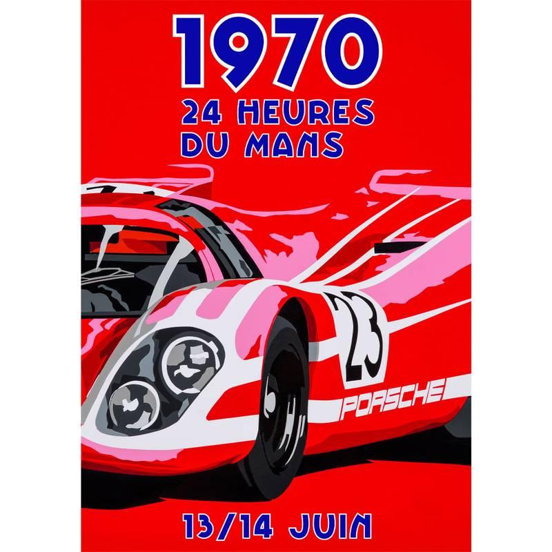 Product image for Salzburg Porsche - 917K - Le Mans 1970   Joel Clark   Portrait Poster