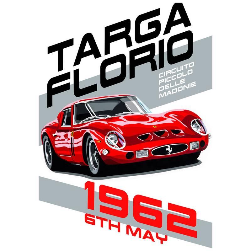 Product image for Ferrari 250 GTO - Targa Florio - 1962 | Joel Clark | poster