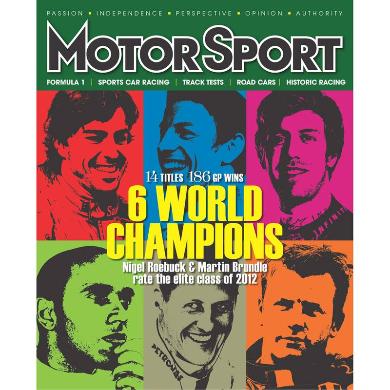Product image for April 2012 | 6 World Champions | Motor Sport Magazine