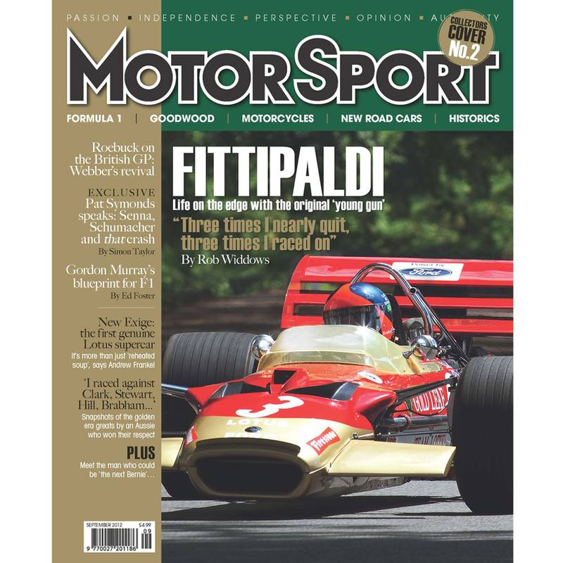 Product image for September 2012 | Fittipaldi: F1's Original Young Gun | Motor Sport Magazine