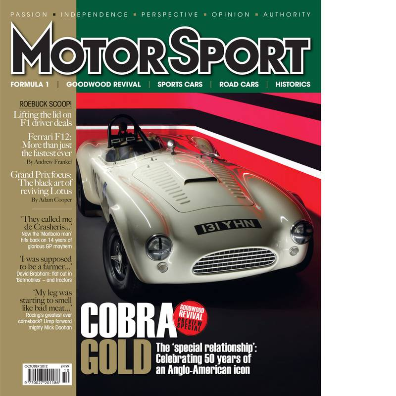 Product image for October 2012 | Cobra Gold | Motor Sport Magazine