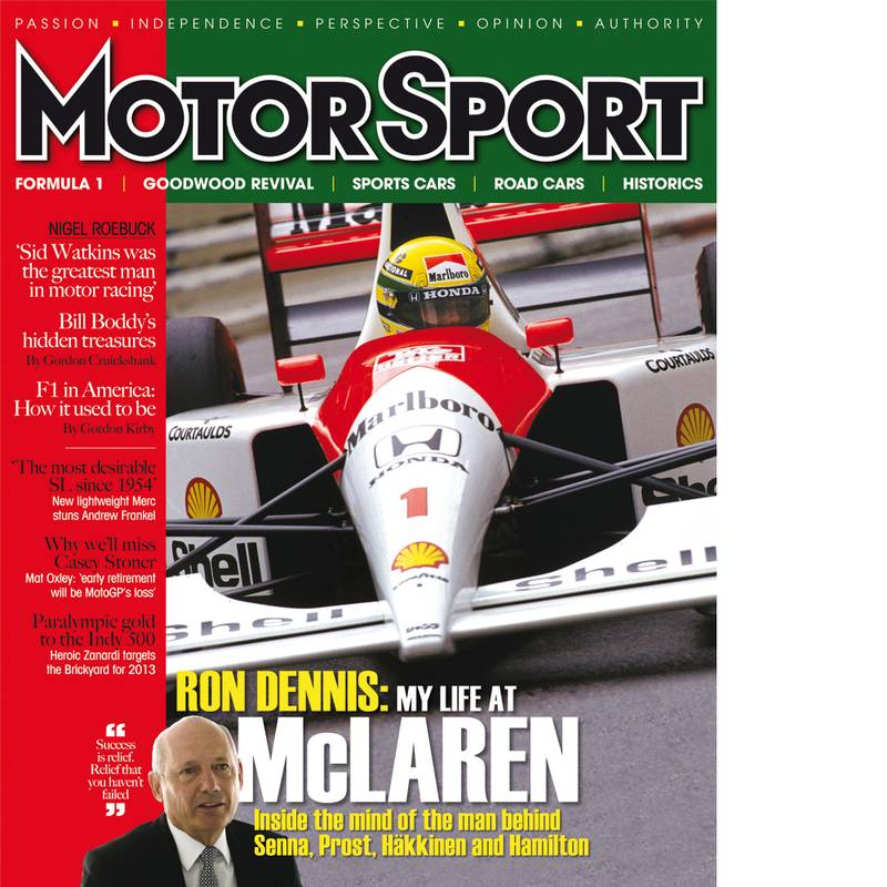 Product image for November 2012 | Ron Dennis: My Life At McLaren | Motor Sport Magazine