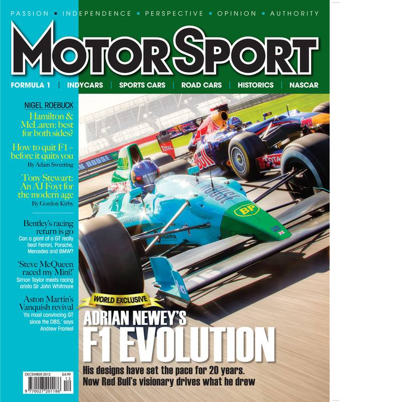 Product image for December 2012 | Adrian Newey's F1 Evolution | Motor Sport Magazine