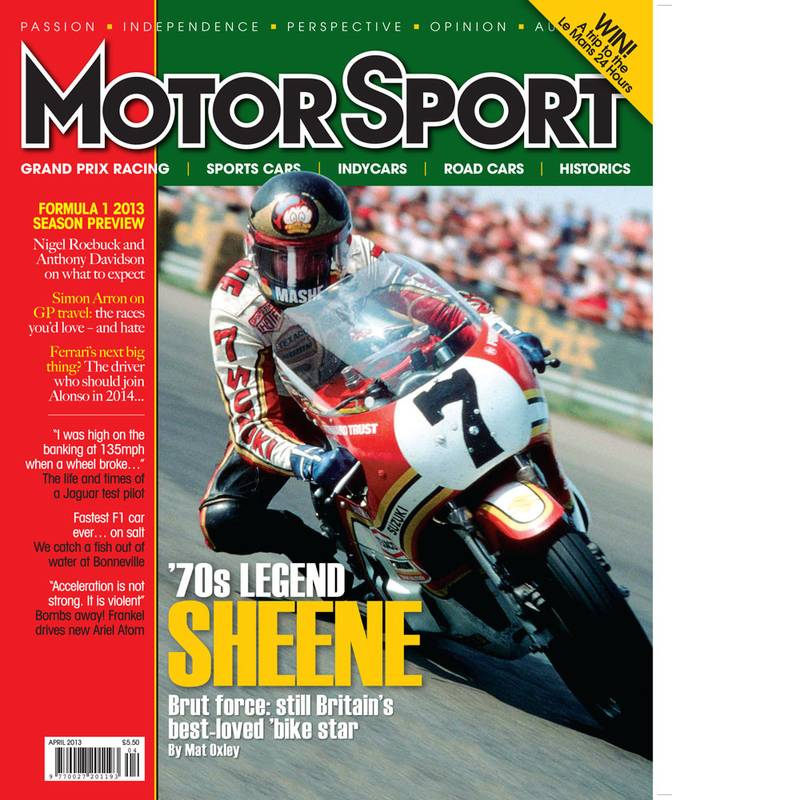 Product image for April 2013 | '70s Legend Sheene | Motor Sport Magazine