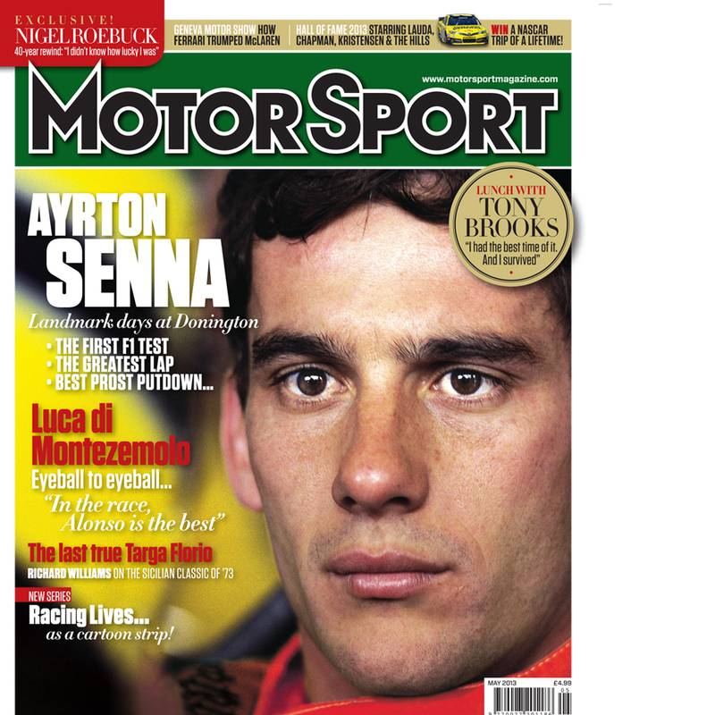 Product image for May 2013 | Ayrton Senna: Landmark Days At Donington | Motor Sport Magazine