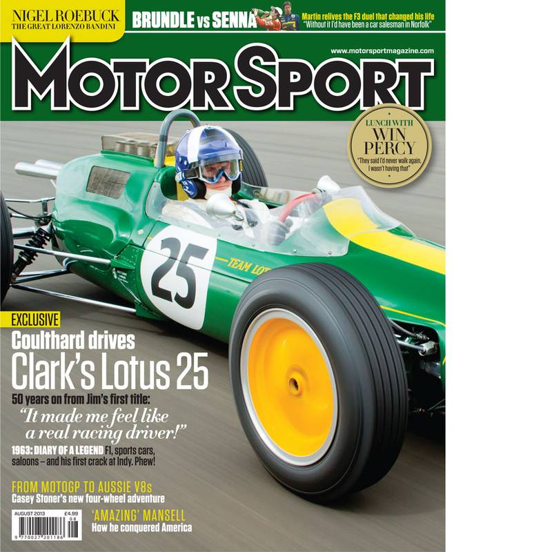 Product image for August 2013 | Coulthard Drives Clark's Lotus 25 | Motor Sport Magazine