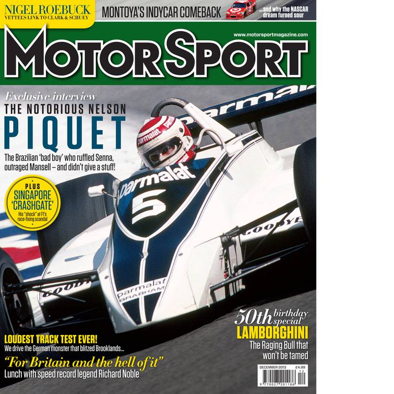 Product image for December 2013 | The Notorious Nelson Piquet | Motor Sport Magazine