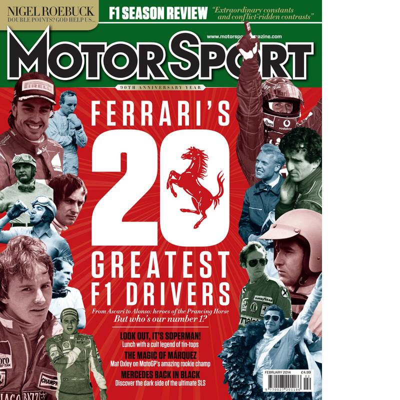 Product image for February 2014   Ferrari's 20 Greatest F1 Drivers   Motor Sport Magazine