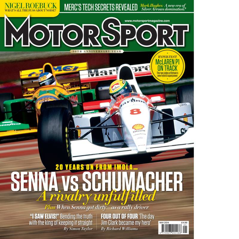Product image for May 2014   Senna Vs Schumacher   Motor Sport Magazine