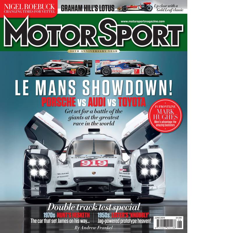 Product image for June 2014   Le Mans Showdown!   Motor Sport Magazine