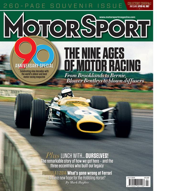 Product image for July 2014   The Nine Ages Of Motor Racing   Motor Sport Magazine