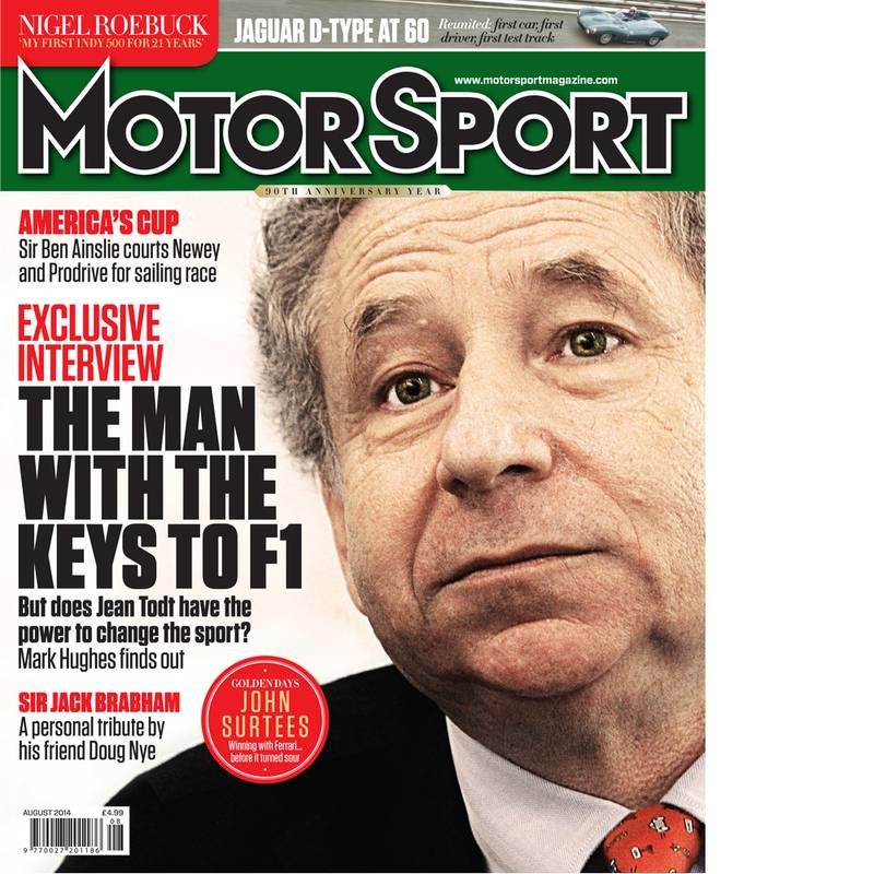 Product image for August 2014   The Man With The Keys To F1   Motor Sport Magazine