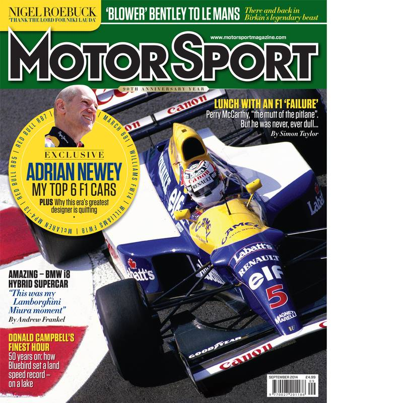 Product image for September 2014   Adrian Newey: My Top 6 F1 Cars   Motor Sport Magazine