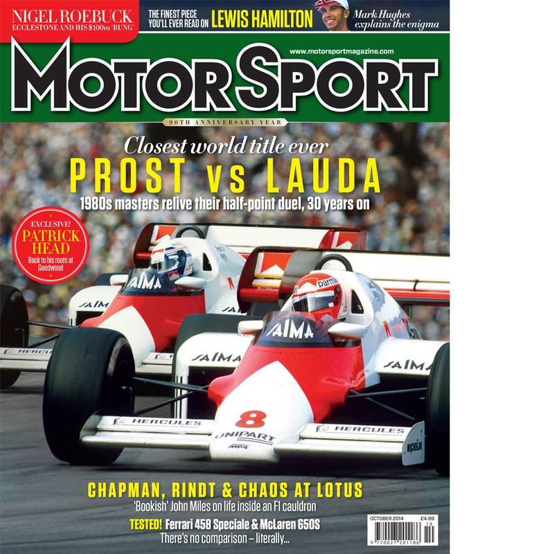 Product image for October 2014   Prost Vs Lauda   Motor Sport Magazine