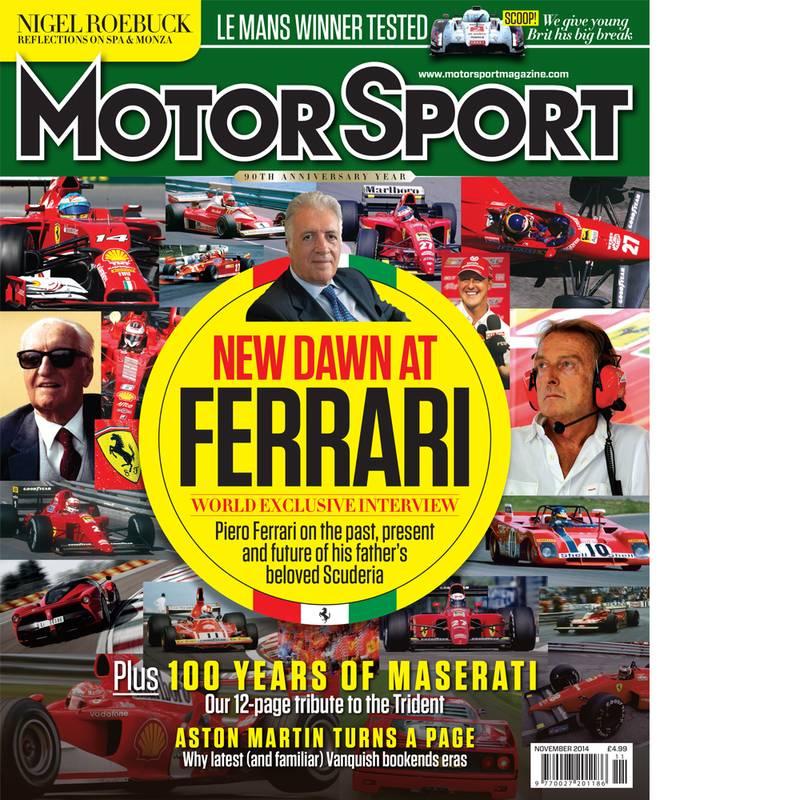 Product image for November 2014   New Dawn At Ferrari   Motor Sport Magazine