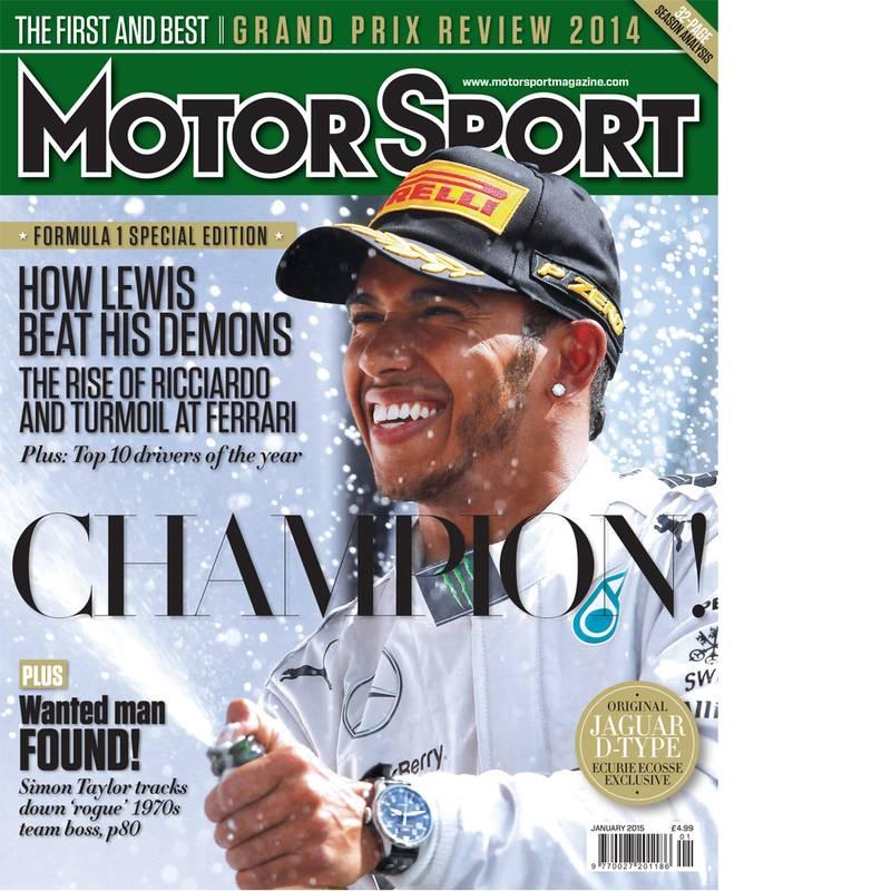 Product image for January 2015   Champion!   Motor Sport Magazine
