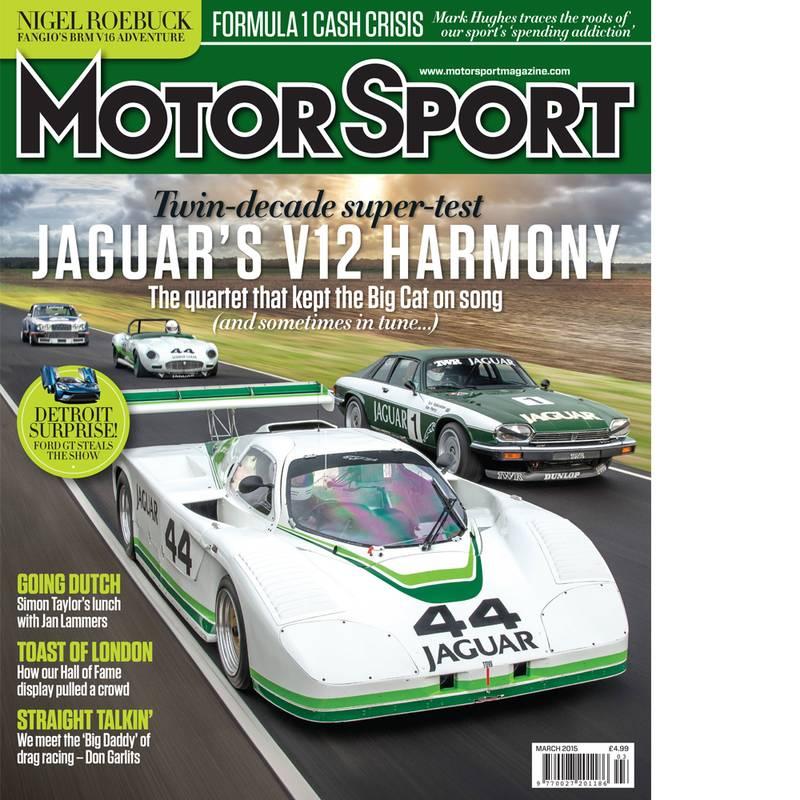 Product image for March 2015   Jaguar's V12 Harmony   Motor Sport Magazine
