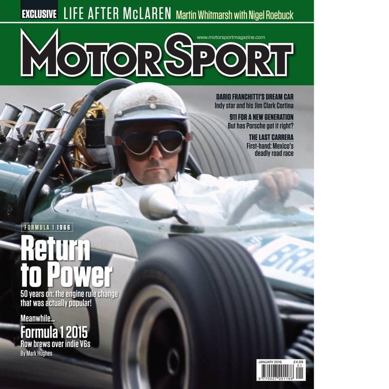 Product image for January 2016   Return To Power   Motor Sport Magazine