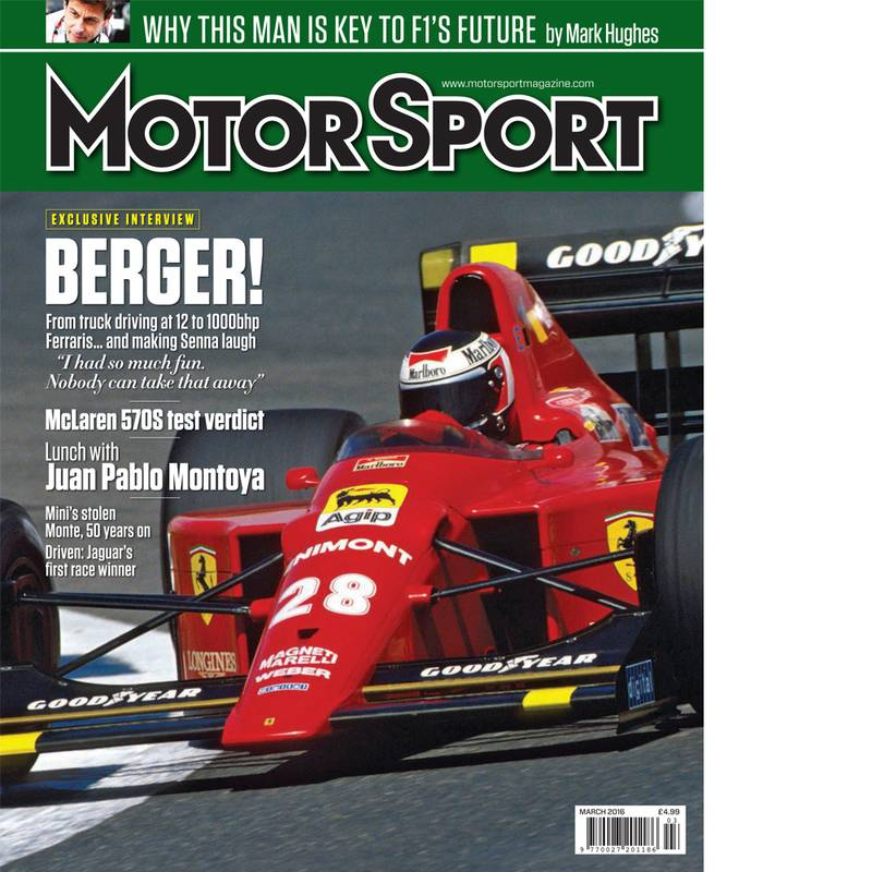 Product image for March 2016   Berger!   Motor Sport Magazine