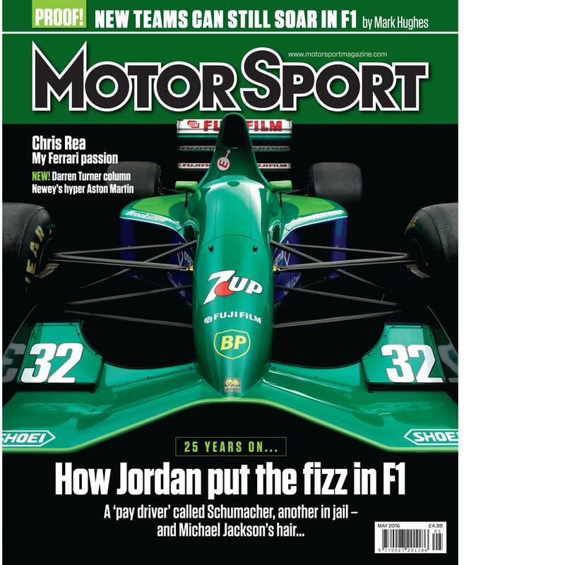 Product image for May 2016 | How Jordan Put The Fizz In F1 | Motor Sport Magazine