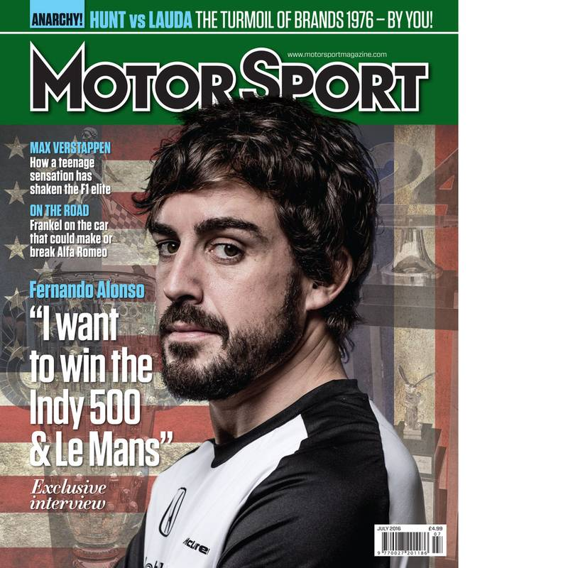 Product image for July 2016 | Fernando Alonso: I Want To Win Indy & Le Mans | Motor Sport Magazine