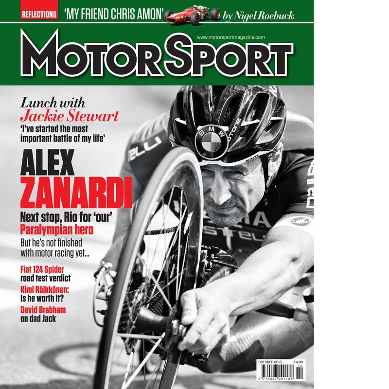 Product image for October 2016 | Alex Zanardi: Next Stop Rio | Motor Sport Magazine