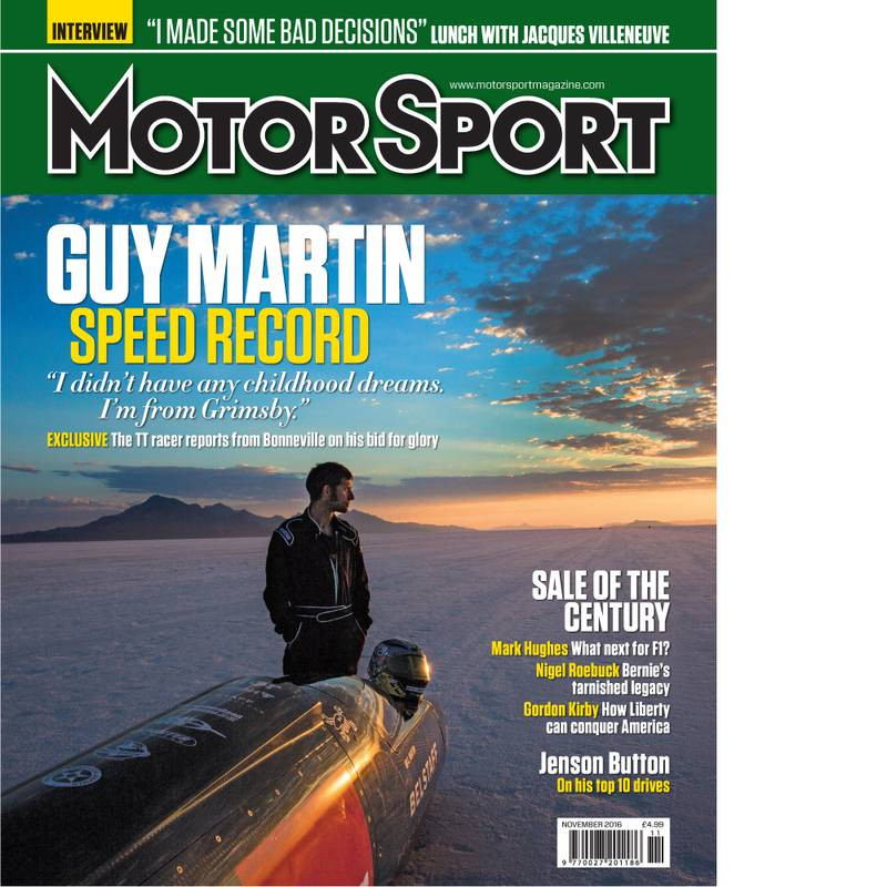 Product image for November 2016 | Guy Martin: Speed Record | Motor Sport Magazine