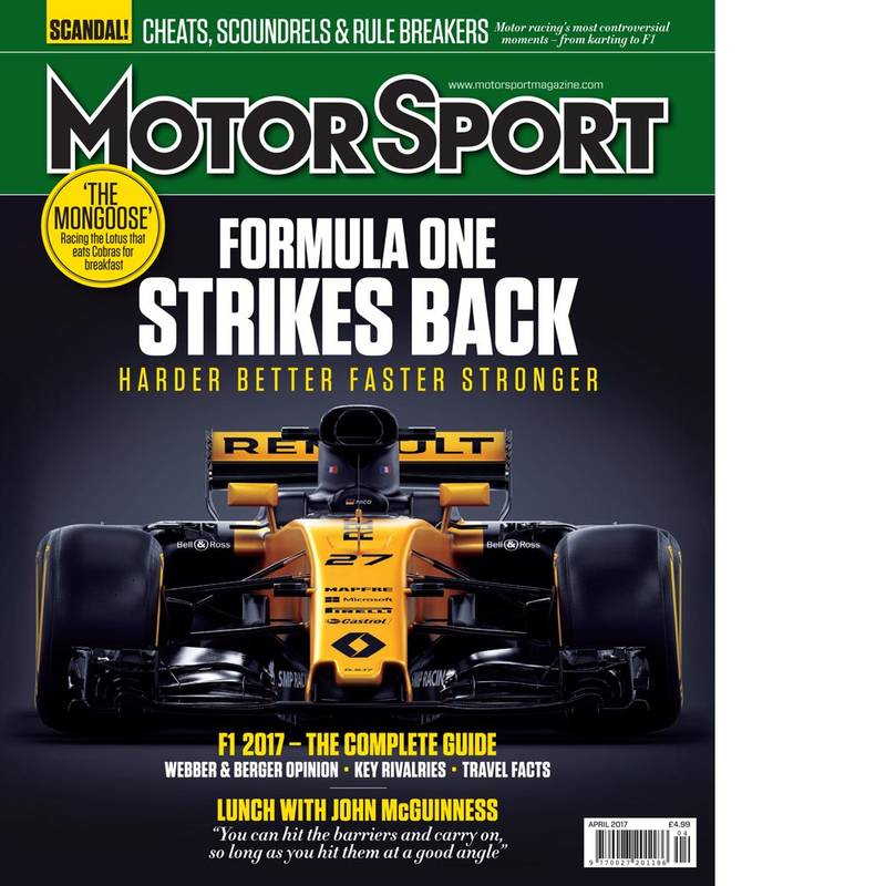 Product image for April 2017 | Formula One Strikes Back | Motor Sport Magazine