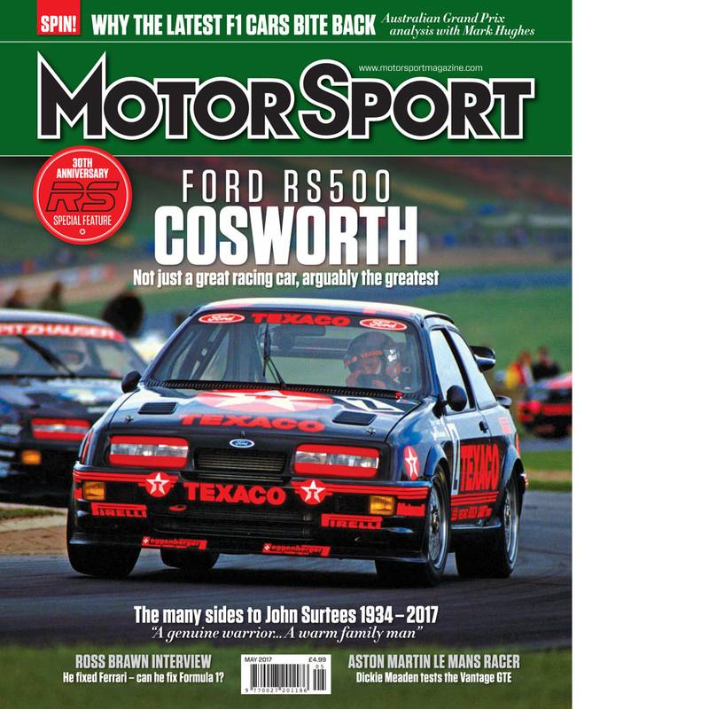 Product image for May 2017 | Ford RS500 Cosworth | Motor Sport Magazine
