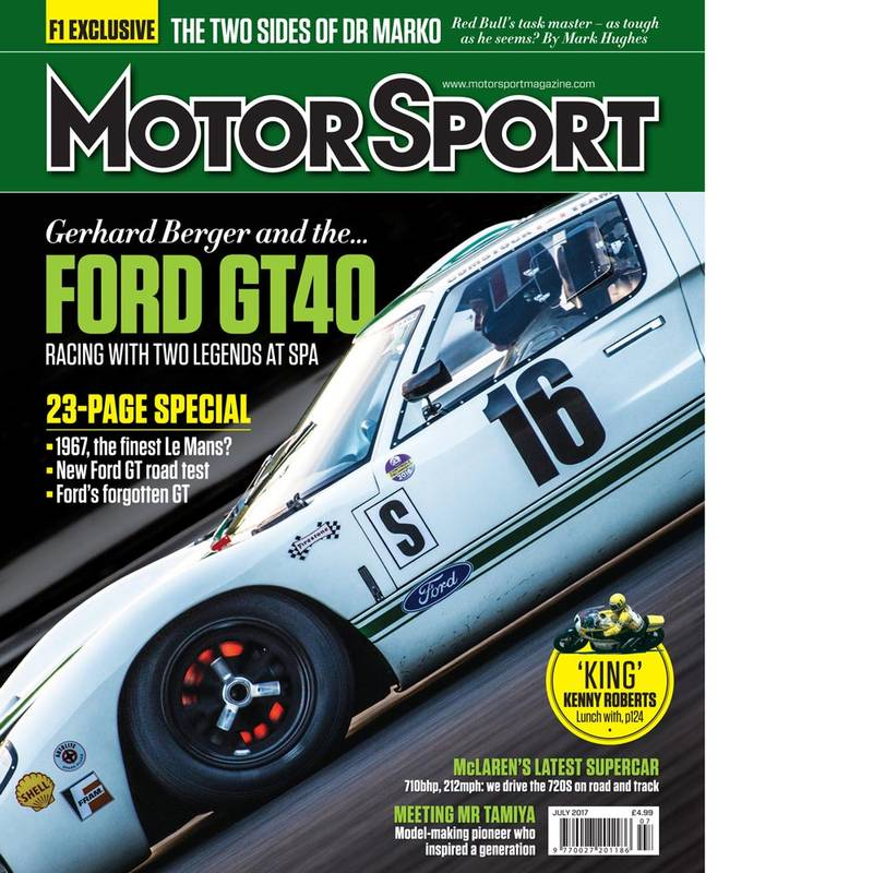 Product image for July 2017 | Gerhard Berger and the Ford GT40 | Motor Sport Magazine