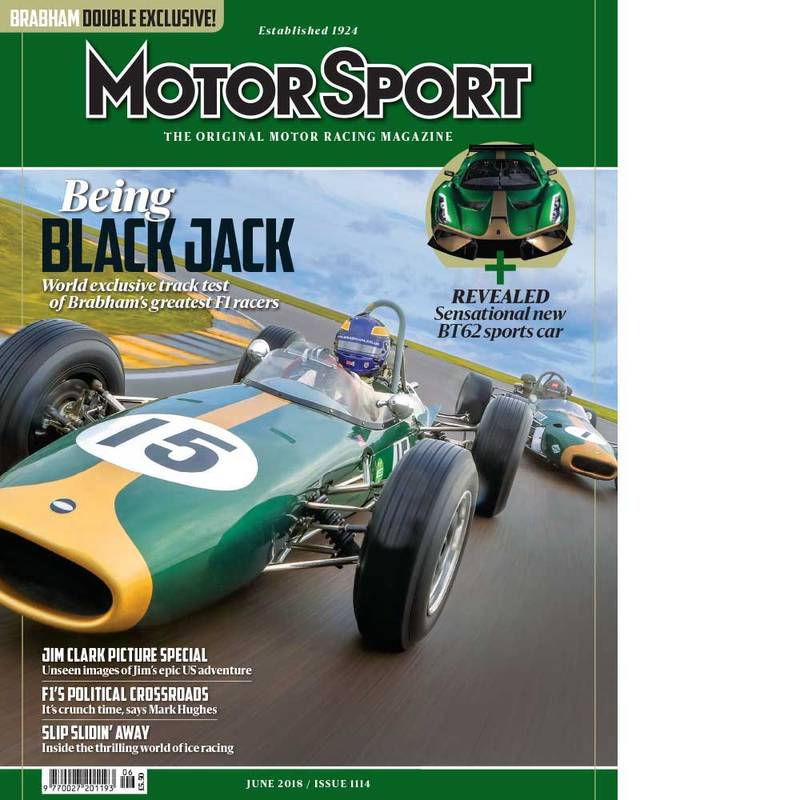 Product image for June 2018 | Brabham - Being Black Jack | Motor Sport Magazine