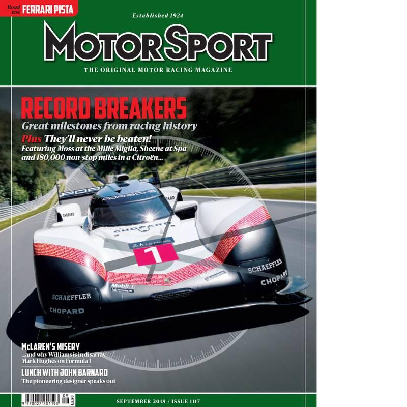 Product image for September 2018 | Record Breakers | Motor Sport Magazine