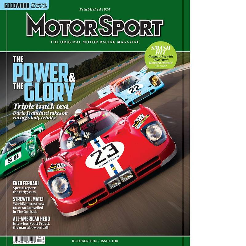 Product image for October 2018 | The Power and The Glory | Motor Sport Magazine