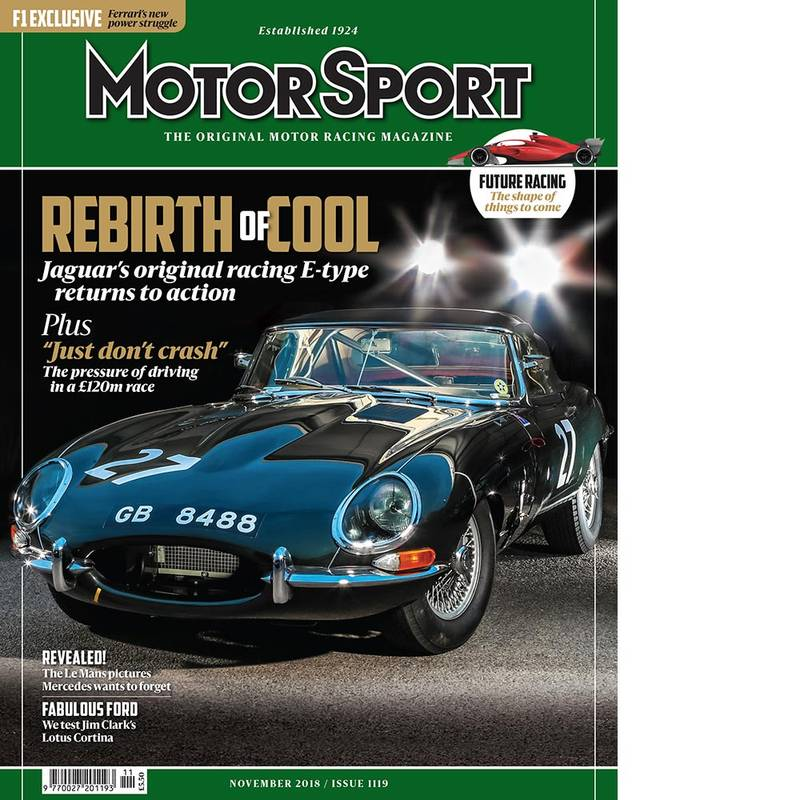Product image for November 2018 | Rebirth of Cool: Jaguar E-type | Motor Sport Magazine