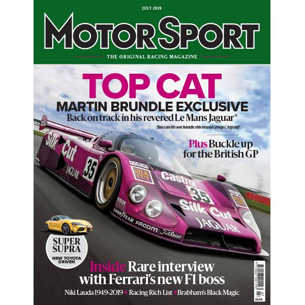 Product image for July 2019 | Top Cat: Martin Brundle's Revered Le Mans Jaguar | Motor Sport Magazine