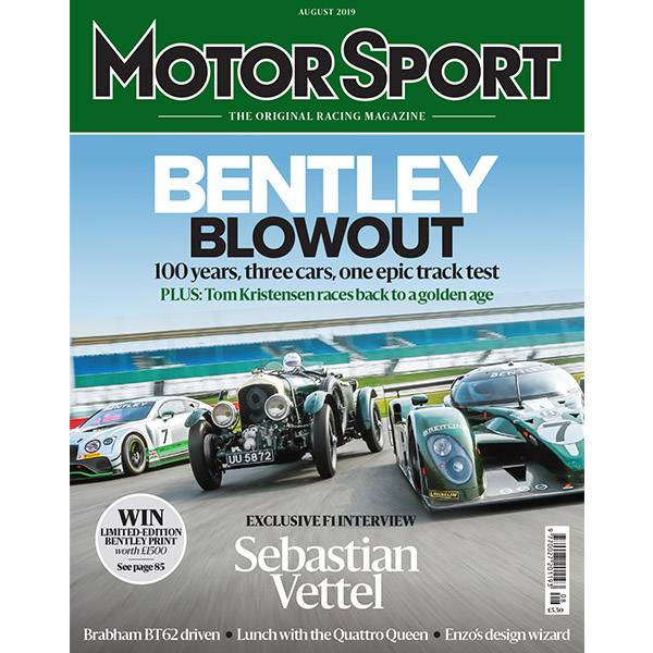 Product image for August 2019 | Bentley Blowout | Motor Sport Magazine