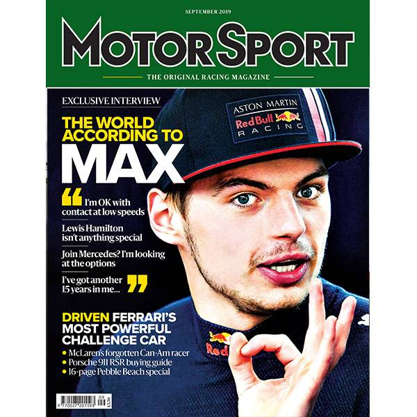 Product image for September 2019 | The World According to Max | Motor Sport Magazine