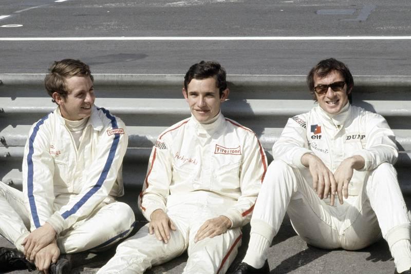Piers Courage, Jacky Ickx and Jackie Stewart