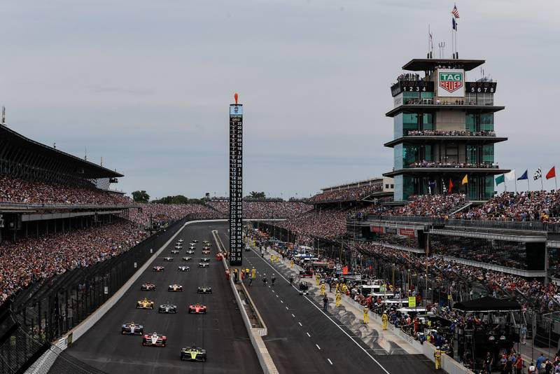 The start of the 2019 Indy 500