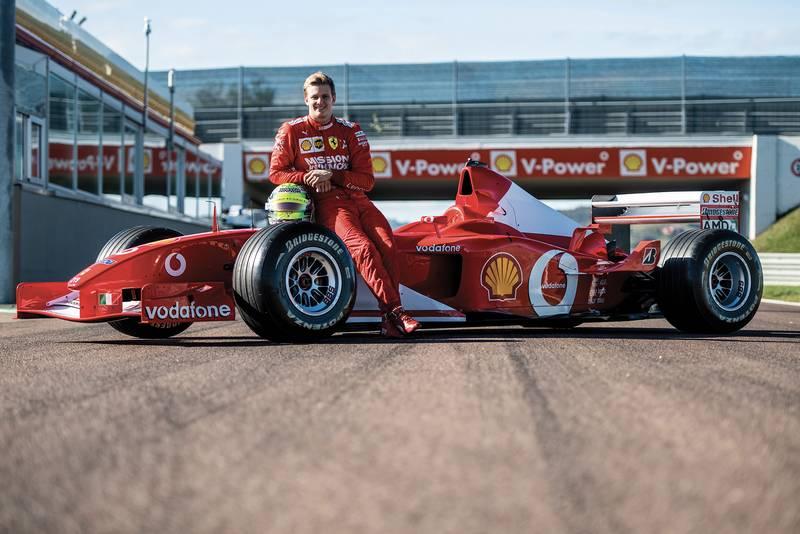 Video: Mick Schumacher drives dad's 2002 F1 championship-winning Ferrari
